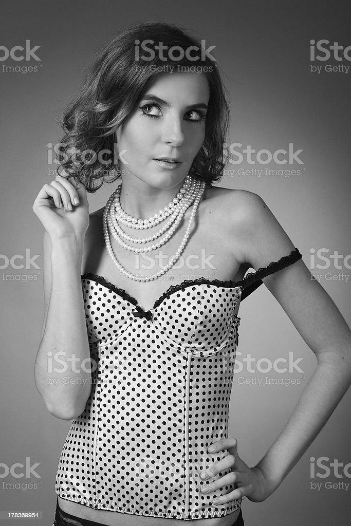 Black & white woman's portrait royalty-free stock photo