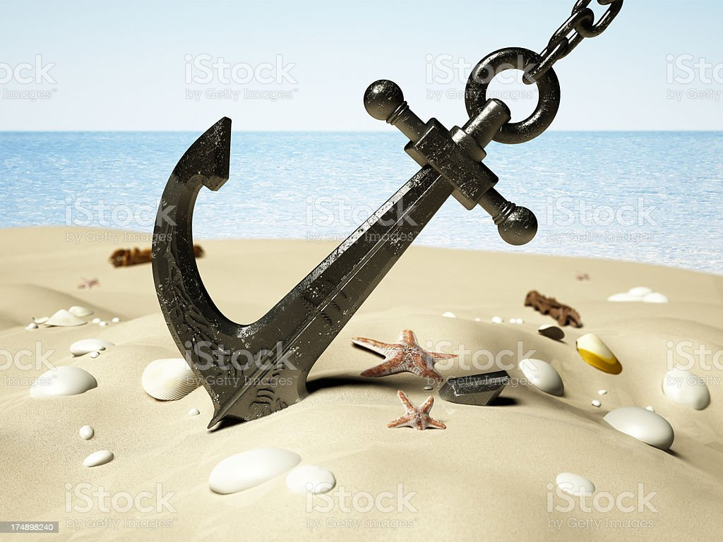 Black anchor stock photo