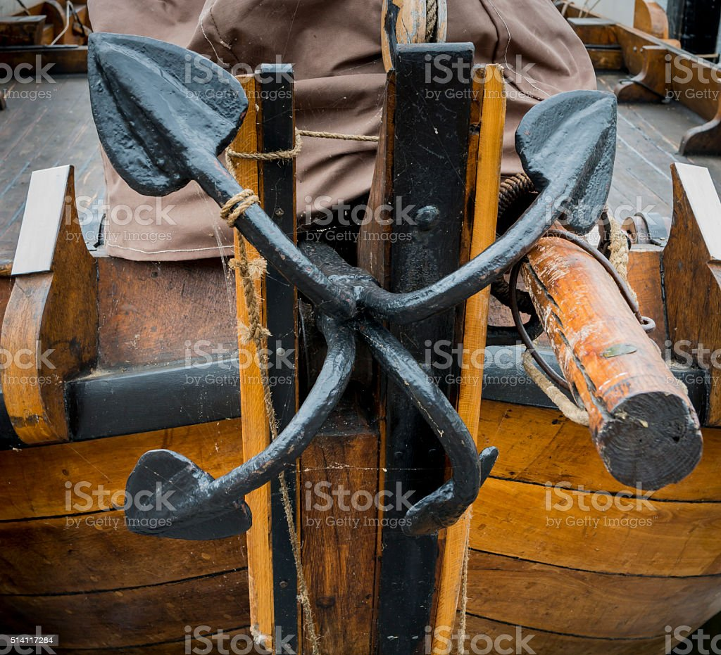 Black Anchor stock photo
