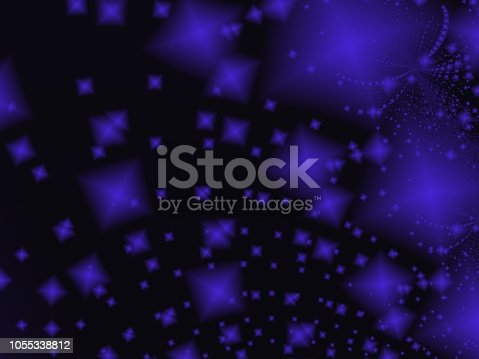 682471362 istock photo Black and Blue Abstract Fractal Art Background 1055338812