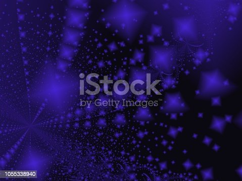682471362 istock photo Black and Blue Abstract Fractal Art Background 1055338940