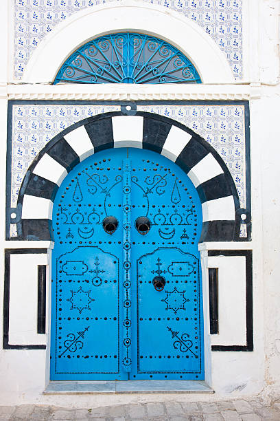 Schwarze und blaue Mittelmeer house – Eingang – Foto