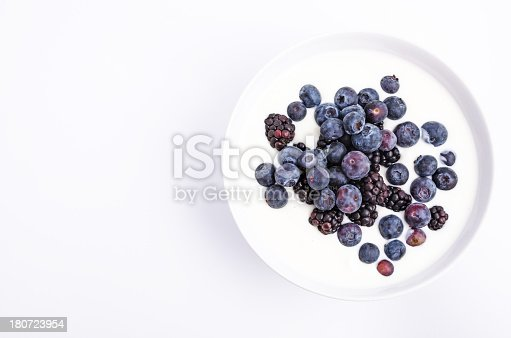 istock Black and Blueberry Yoghurt from above 180723954