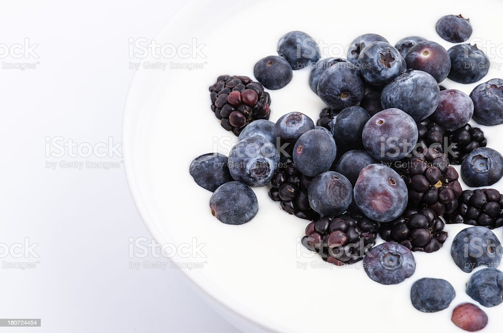 Black and Blueberry Yoghurt royalty-free stock photo