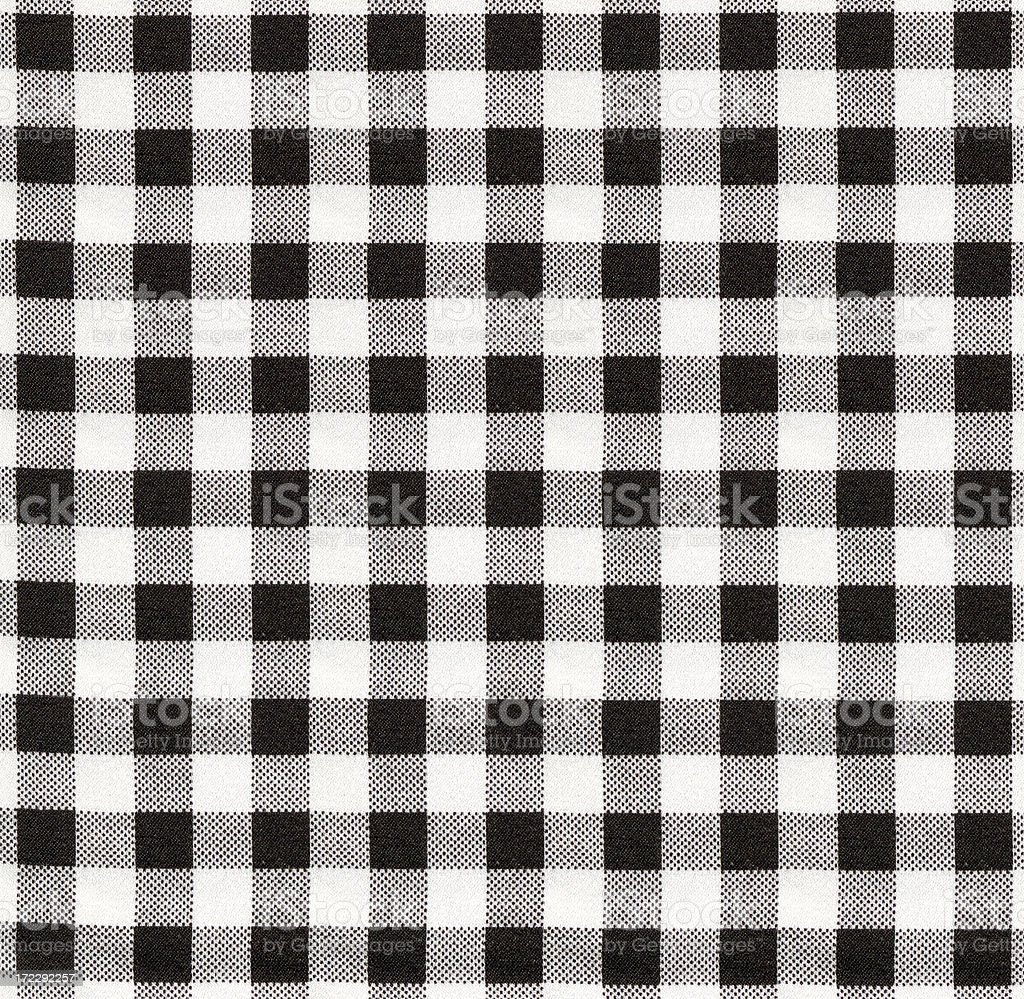 Black and cream checked pattern royalty-free stock photo