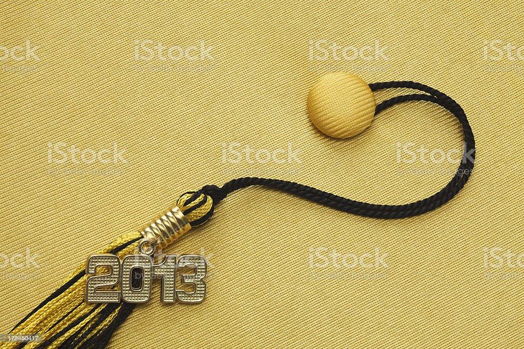Black and Gold 2013 Graduation royalty-free stock photo
