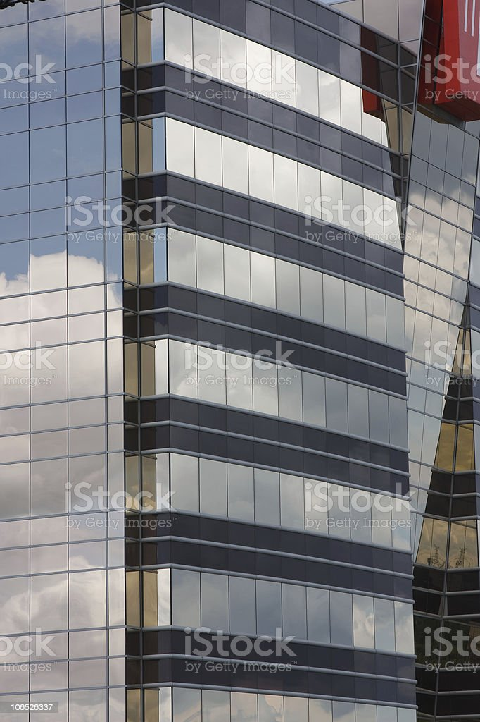 Black and gold building royalty-free stock photo
