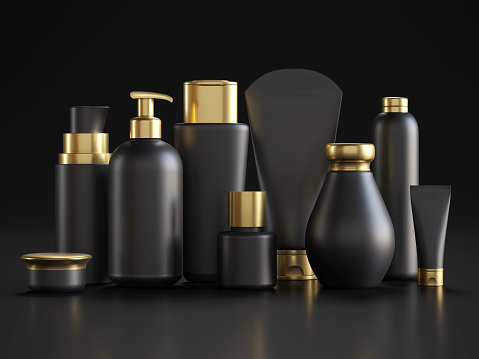 Packaging, Make-Up, Merchandise, Bottle Black, USA