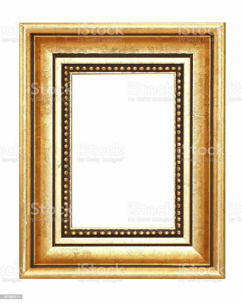 Black And Gold Frame royalty-free stock photo