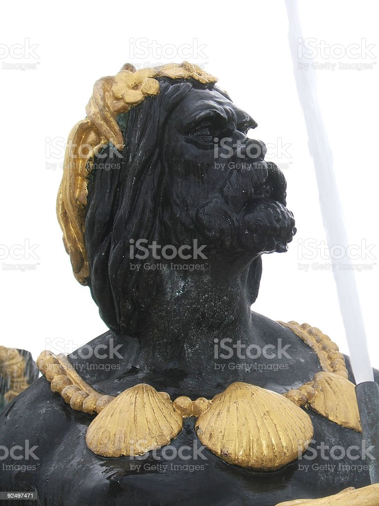 Black and gold man royalty-free stock photo
