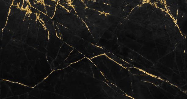 Black And Gold Marble Texture Design For Cover Book Or