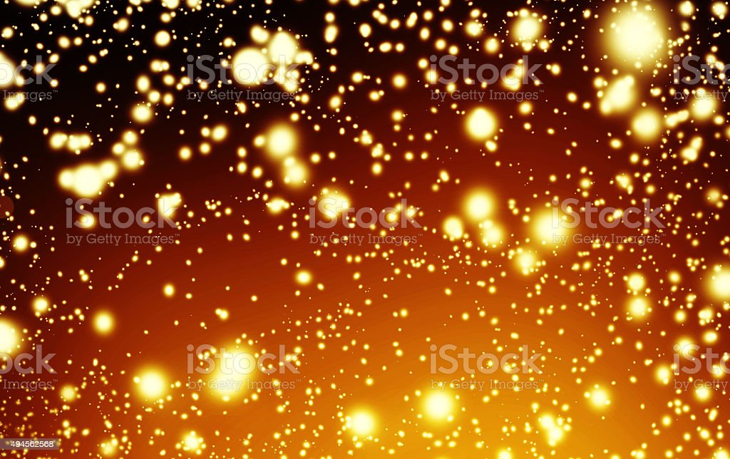 Black And Golden Christmas Lights   Glitter Background With Cir  Royalty Free Stock Photo