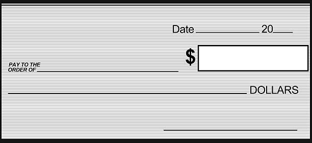 Black and Gray Blank Check can print any size stock photo