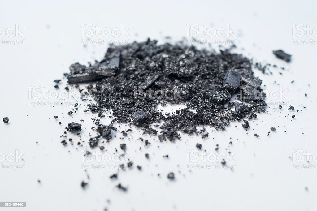 black and grey eyeshadow makeup pigment powder royalty-free stock photo