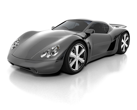Black And Grey Sports Car For Luxury Stock Photo - Download Image Now