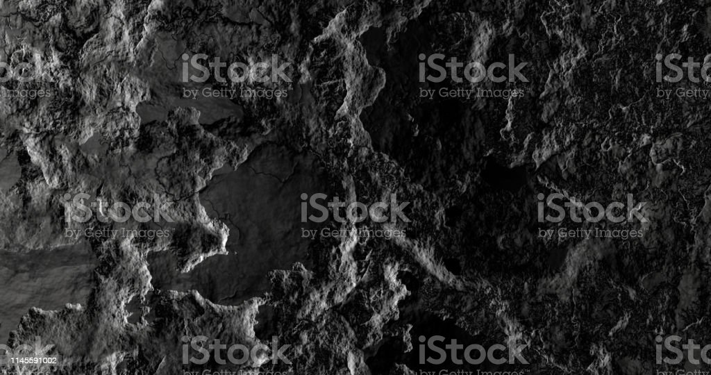3d rendering. Black and light gray texture background. Abstract...