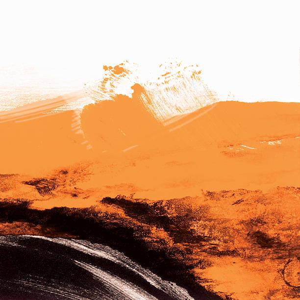 papel de parede do grunge preto e laranja - impressão ilustração - fotografias e filmes do acervo