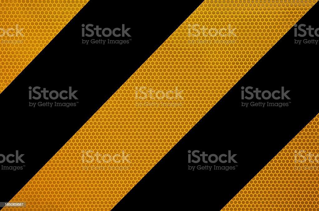 Black and Orange Reflective Road Sign stock photo