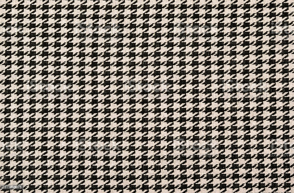 Black and pink houndstooth pattern. stock photo