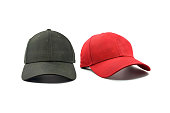 istock Black and red fashion and baseball cap 1066154968