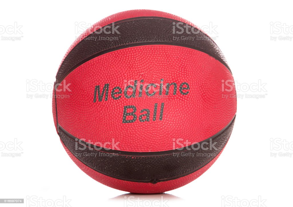 black and red medicine ball stock photo
