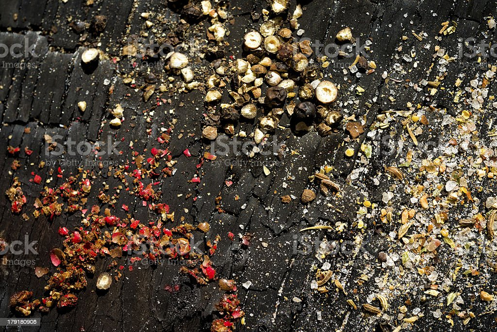 Black and red peppercorn royalty-free stock photo