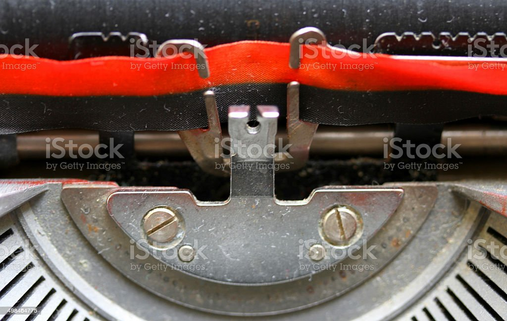 black and Red Ribbon of an Italian mechanical typewriter royalty-free stock photo