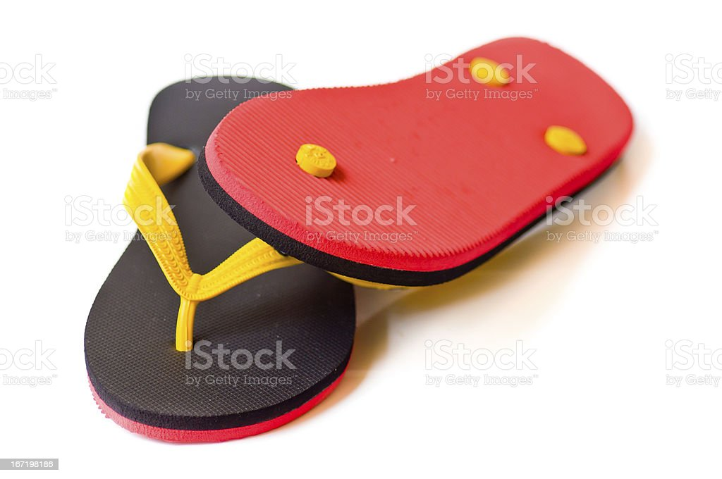 Black and red slipper royalty-free stock photo
