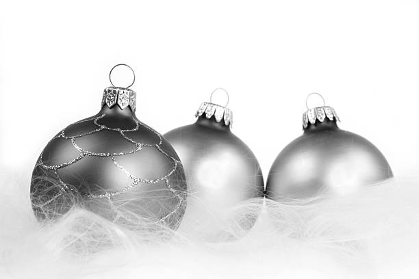 Black And Silver Baubles stock photo