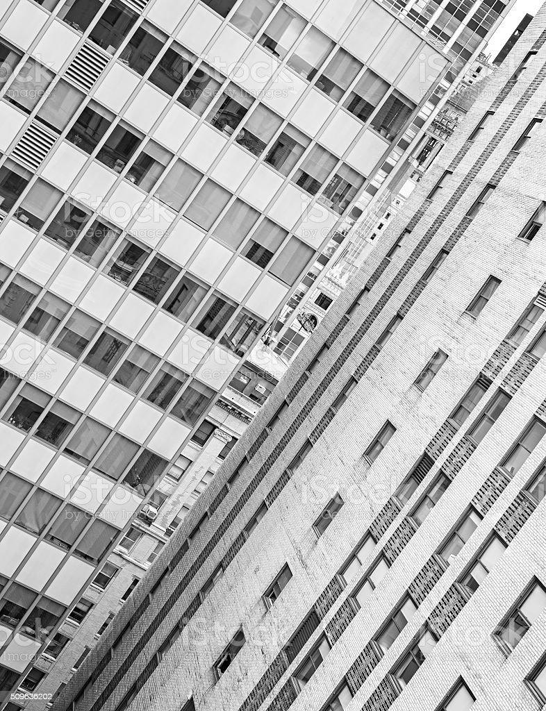 Sfondo Bianco E Nero Di Architettura Edifici In Tutta New