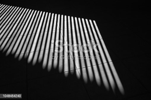 639291528istockphoto black and white art photography shadow of pattern interior line contrast light and shade. 1048454240