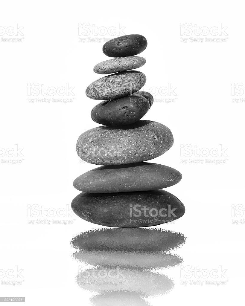 Black and White balance stone stock photo