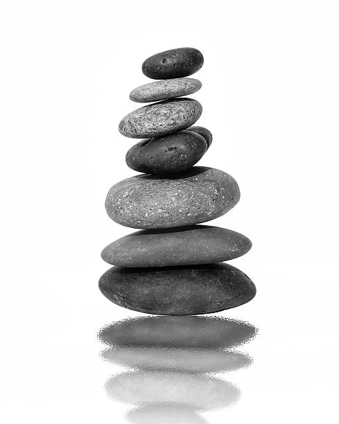 black and white balance stone - stack rock stock pictures, royalty-free photos & images