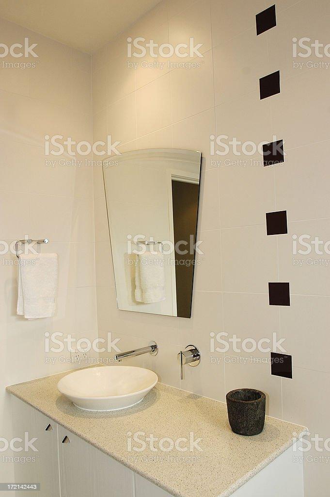 Black and White Bathroom #2 royalty-free stock photo