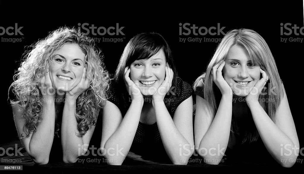 Black and White Beauties royalty-free stock photo