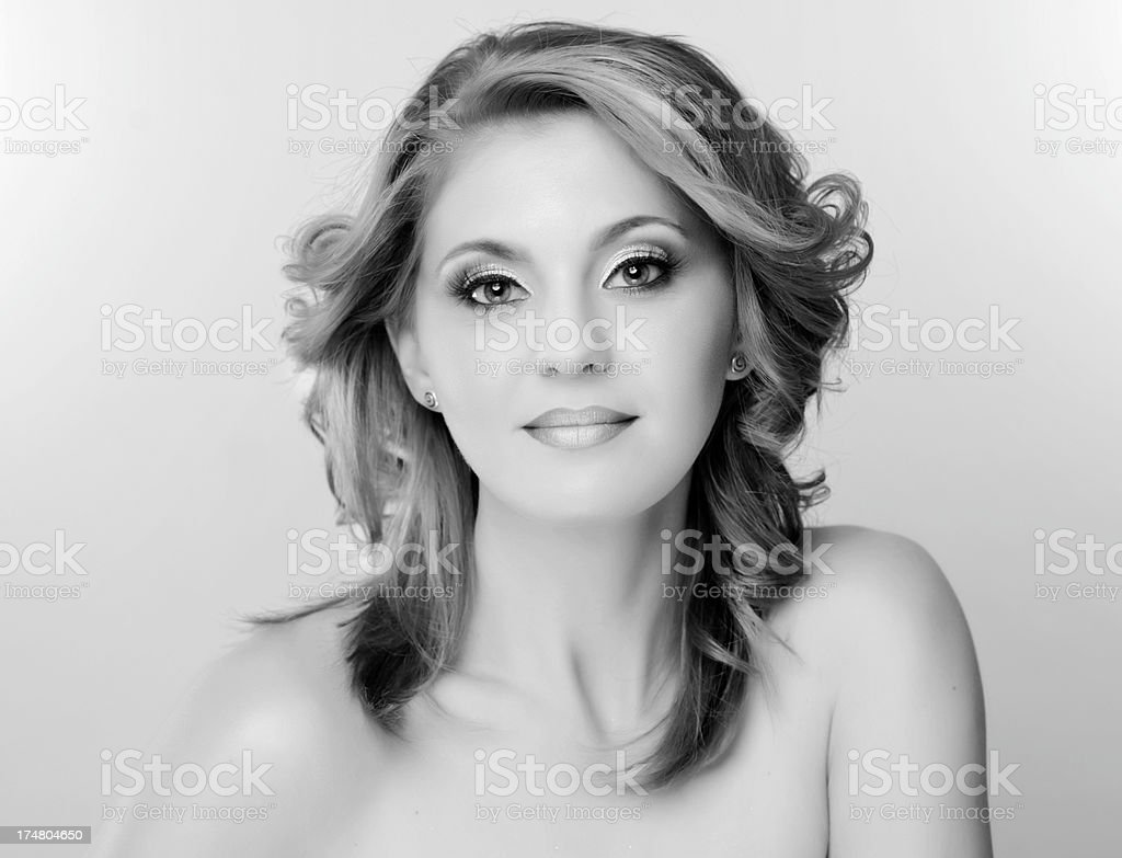 black and white beauty stock photo