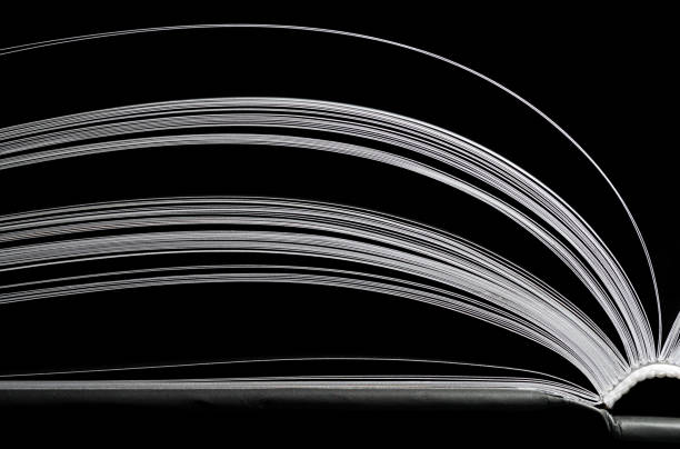 black and white book stock photo
