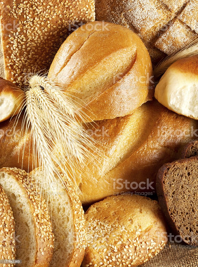 Black and white bread stock photo