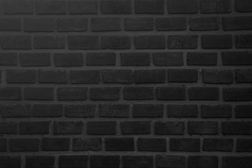905087856 istock photo Black and white brick wall texture background or wallpaper abstract paint to flooring and homework. 981336856