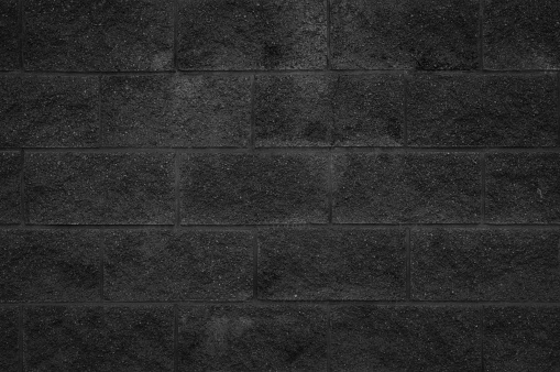 905087856 istock photo Black and white brick wall texture background or wallpaper abstract paint to flooring and homework. 981339156
