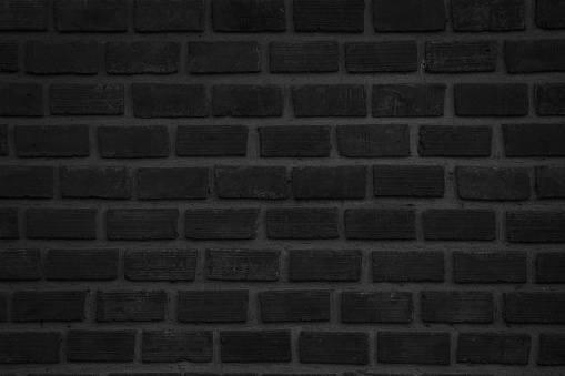 905087856 istock photo Black and white brick wall texture background or wallpaper abstract paint to flooring and homework. 981339196