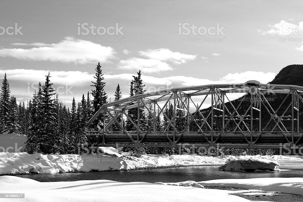 Black and White Bridge royalty-free stock photo