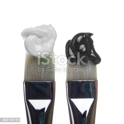 510006691 istock photo black and white Brushes 503153115