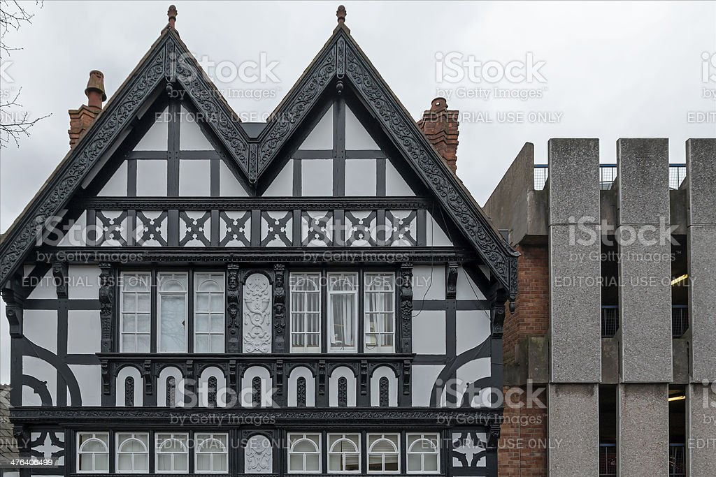 Black and White building, Chester royalty-free stock photo