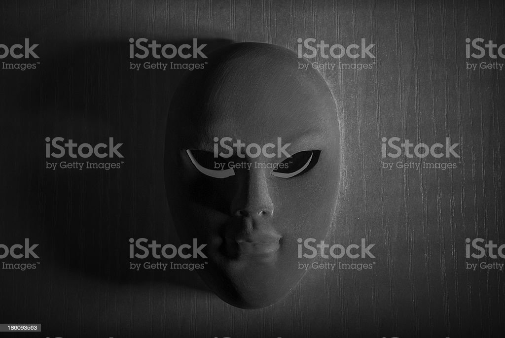 Black and White carnival mask royalty-free stock photo