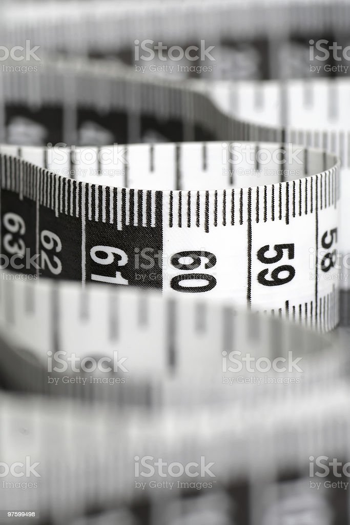 Black And White Centimeter royalty-free stock photo