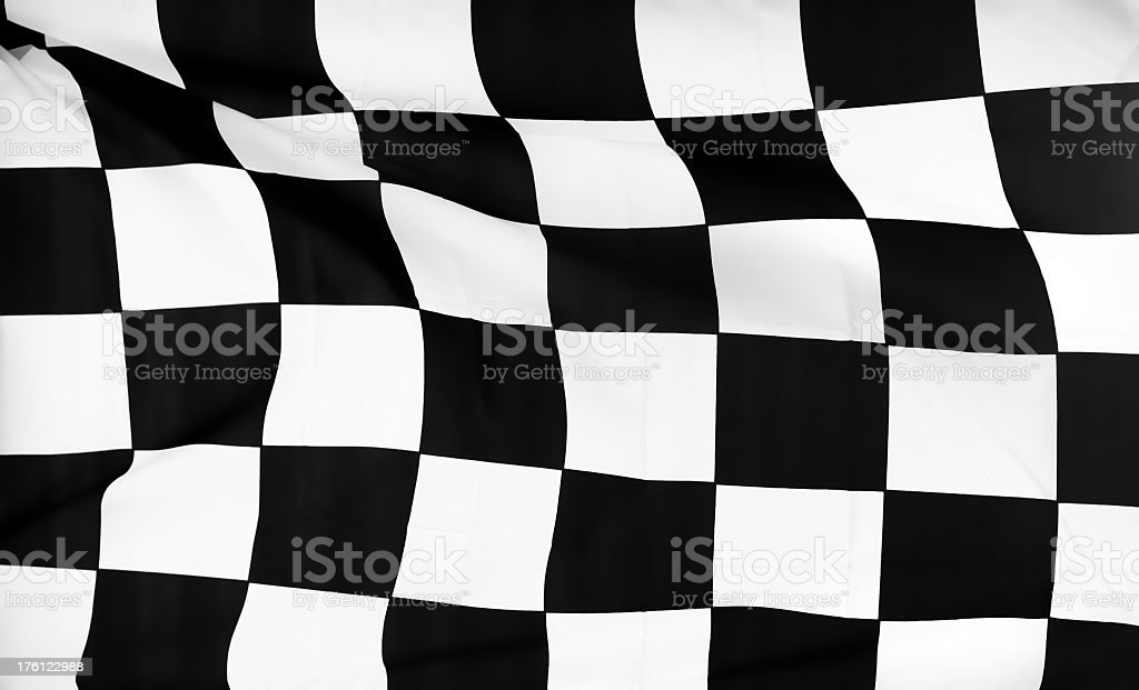 Black and white checkered flag stock photo