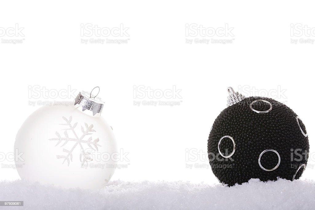 black and white christmas ball royalty-free stock photo