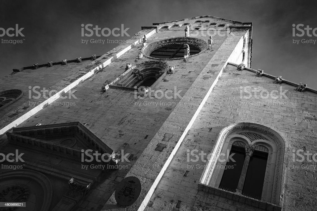 Black and white church royalty-free stock photo