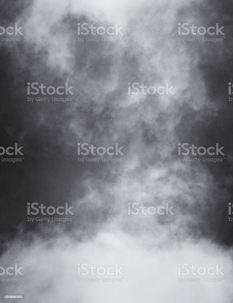 Black and White Clouds and Fog stock photo